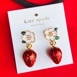 kate spade picnic perfect strawberry drop earrings
